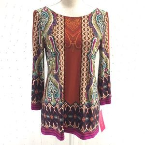 Sunny Leigh Graphic Tunic Sz M